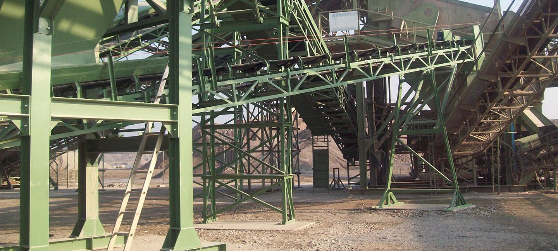 Nastri trasportatori zincati serie S5 con struttura a traliccio in angolare