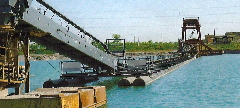 Nastri trasportatori galleggianti catamarano